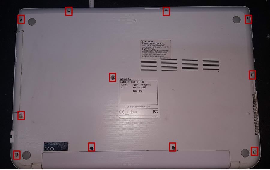Toshiba Satellite L50 Fan Değişimi